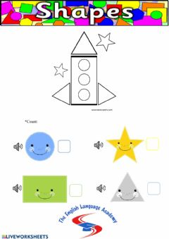 Interactive worksheet Shapes (count) 2