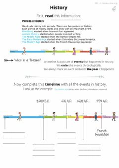 Interactive worksheet Periods in history