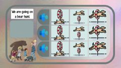 Interactive worksheet Listening prepositions we are going on a bear hunt