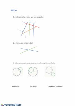 Interactive worksheet Rectas y  circunferencias