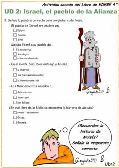 Interactive worksheet Test Moisés 4º