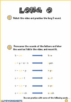 Interactive worksheet Long O sound