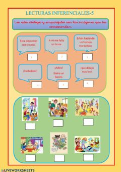 Interactive worksheet Lecturas inferenciales 5