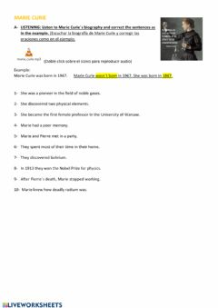 Interactive worksheet Chemical Processes