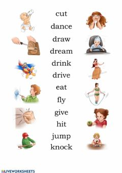 Ficha interactiva Verbs with pictures