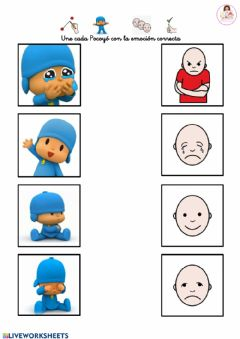 Interactive worksheet Emociones