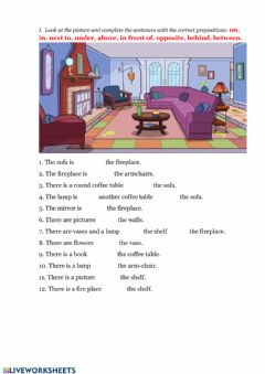 Interactive worksheet My home