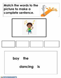 Interactive worksheet Make a sentence 1