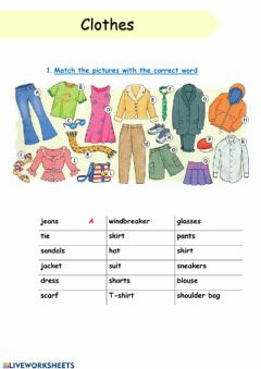 Interactive worksheet Listening. Clothes