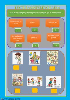 Interactive worksheet Lecturas inferenciales 6