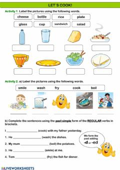 Interactive worksheet Let-s cook! Review