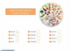 Ficha interactiva Unit 2 Food groups
