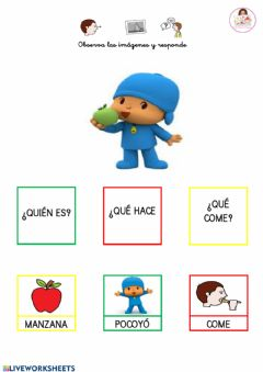 Interactive worksheet Frases sencillas