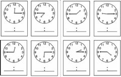 Interactive worksheet Time to half-quarter hours