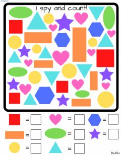 Interactive worksheet I spy shapes