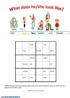 Interactive worksheet physical appearance Sudoku - Yarma Primary School -Konya