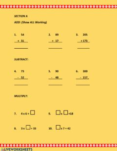 Interactive worksheet GLAT Review
