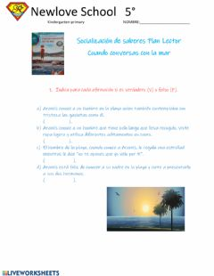 Interactive worksheet Cuando conversas con la mar