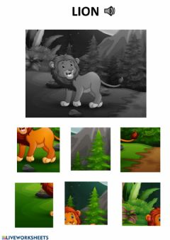 Interactive worksheet Lion puzzle