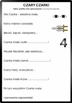 Interactive worksheet Czary Czarki