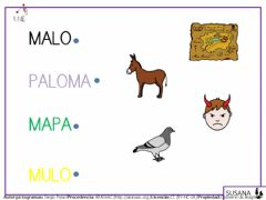 Interactive worksheet Palabras con p-l-m.2