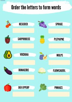 Ficha interactiva Fruits and vegetables order