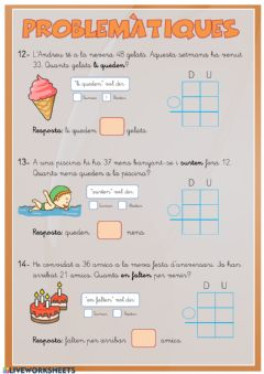 Interactive worksheet PROBLEMATIQUES1-2