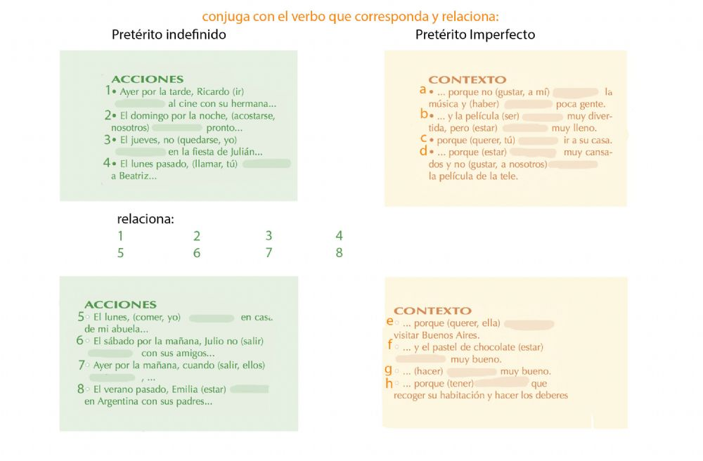 Pretérito Indefinido Y Pretérito Imperfecto Worksheet