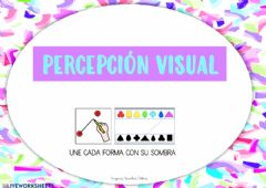 Interactive worksheet Percepción visual - sombras y formas