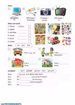 Ficha interactiva Family and friends 3 Review 1-3