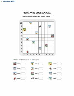 Interactive worksheet Repaso Coordenadas