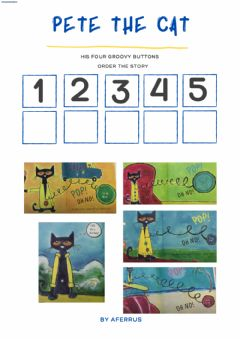 Interactive worksheet Pete the Cat and His Groovy Buttons