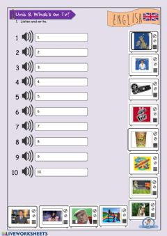 Interactive worksheet Tv programmes