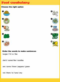 Interactive worksheet Food vocabulary