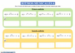 Interactive worksheet Ritmos musicales 6