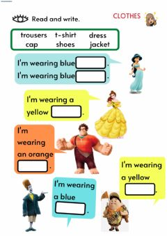 Interactive worksheet What are you wearing?