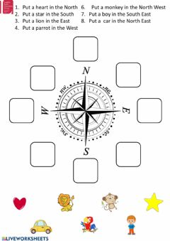 Interactive worksheet Cardinal directions