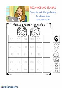 Interactive worksheet Sílabas s