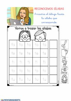 Interactive worksheet Sílaba t