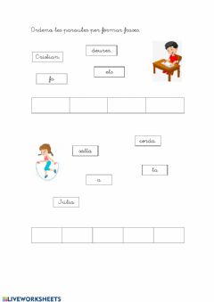 Interactive worksheet Ordenar les frases