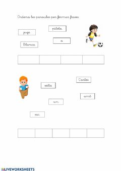 Interactive worksheet Ordenar les frases 2