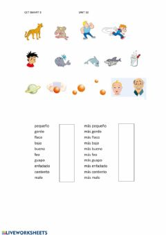 Interactive worksheet Get smart 3 unit 10