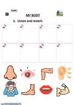 Interactive worksheet My body 2:Preschool