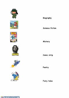 Interactive worksheet Literary Genres