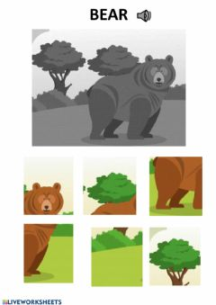 Interactive worksheet Bear puzzle