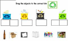 Interactive worksheet Recycling drag and drop