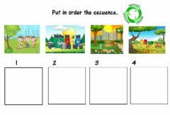 Interactive worksheet Put in order the secuence
