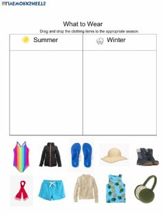 Interactive worksheet What to Wear