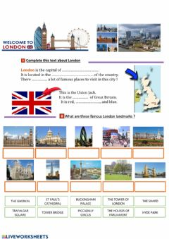 Interactive worksheet Welcome to London