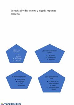 Interactive worksheet cuento 2º ciclo